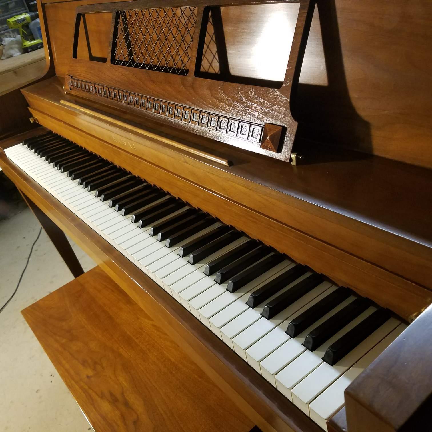 kawai walnut console the piano guys. Black Bedroom Furniture Sets. Home Design Ideas