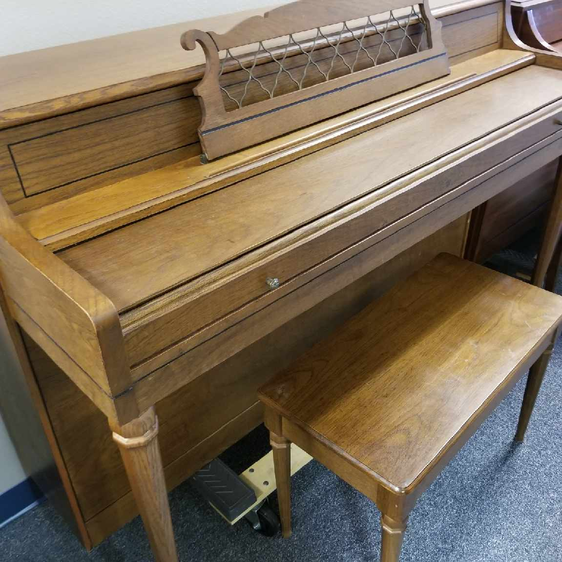 Rudolph Wurlitzer Pecan Spinet The Piano Guys